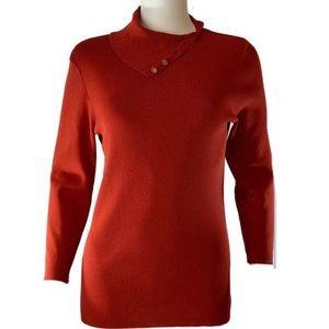 Dana Buchman Pumpkin Rust Sweater